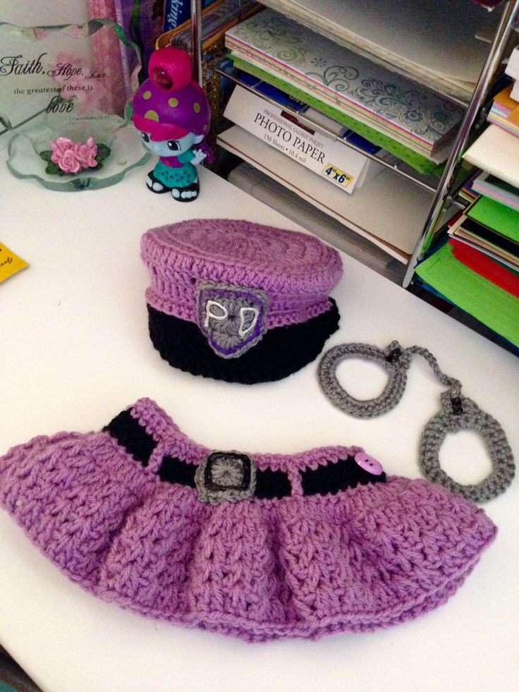 Lavender Infant girl police outfit