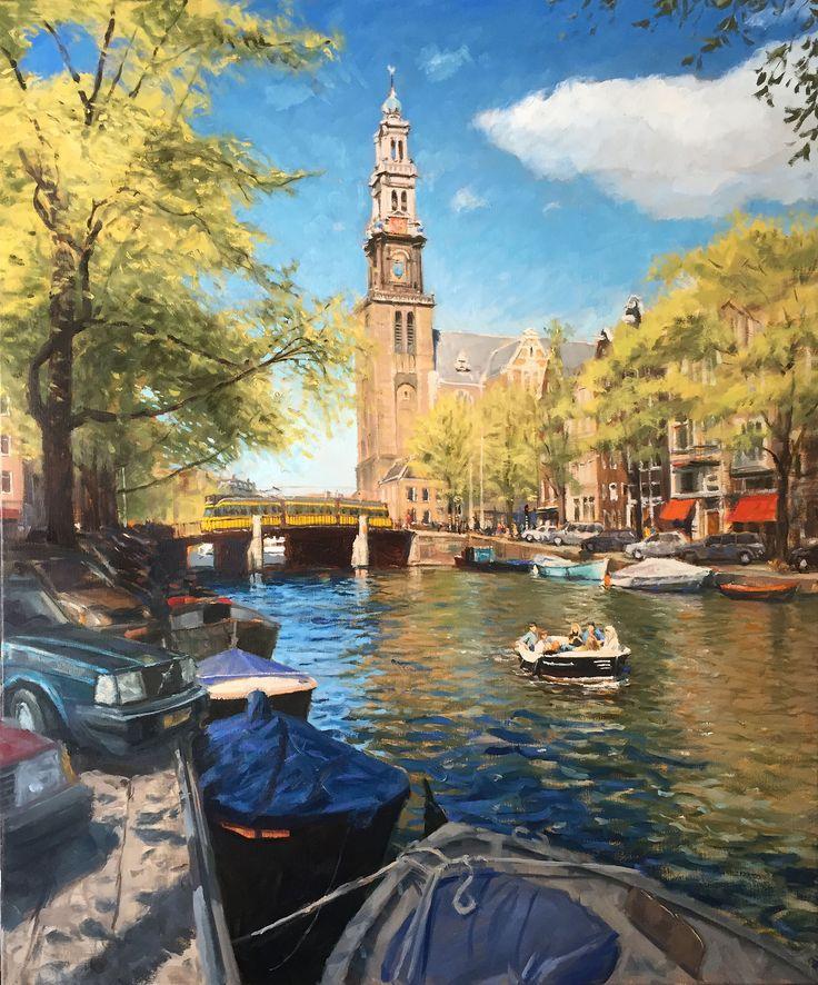Westertoren Amsterdam | oil on linen painting by Richard van Mensvoort