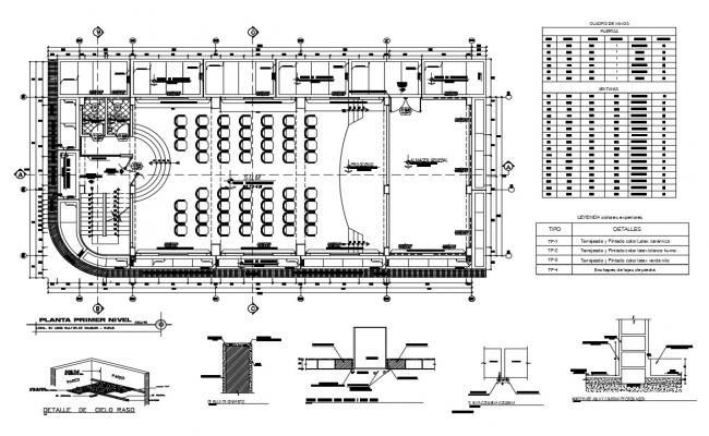 Conference Hall Of Office Architecture Layout Plan Details Dwg File Layout Architecture Conference Hall Autocad Layout