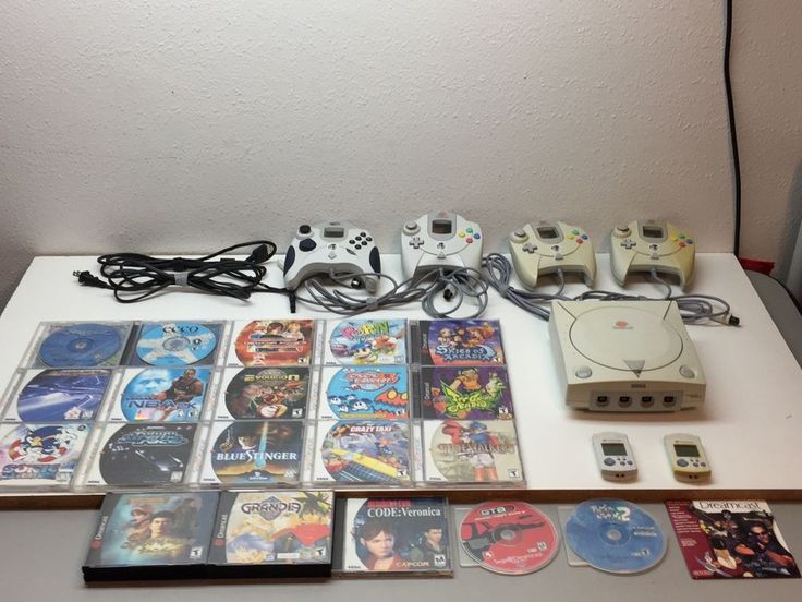 Sega Dreamcast Console System Bundle + 4 Controllers & 20 Games Working Tested  | eBay