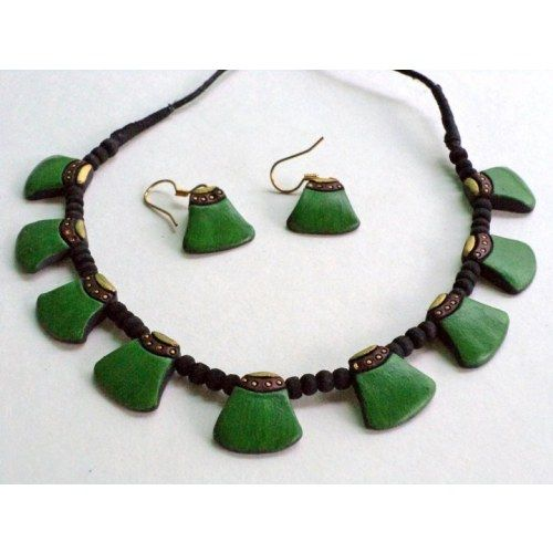 Terracotta Jewellery Set with earings-petals - Online Shopping for Jewellery Sets by Indulgence