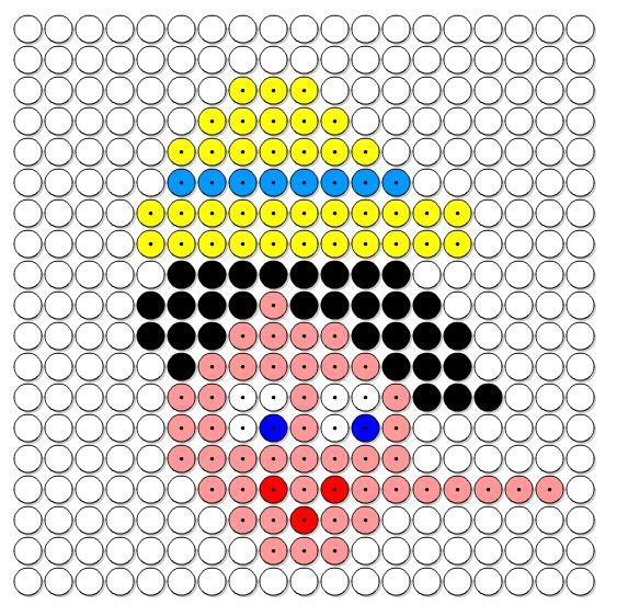 Kralenplank Pinokkio met lange neus