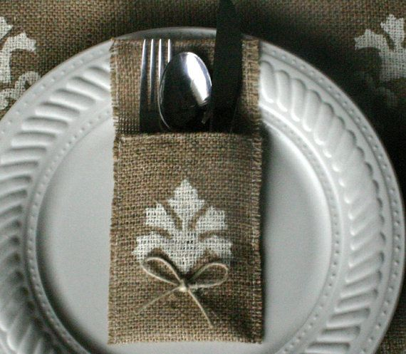 Burlap wedding decorations, Burlap table runner, country rustic, woodland cottage, & French country weddings