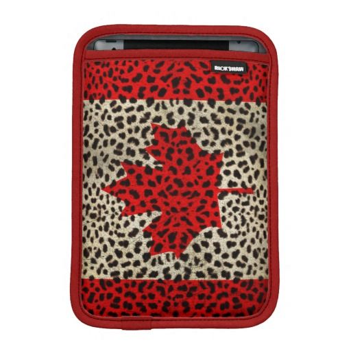 8 best canadian flag images on pinterest canada canada day and coupon code canadian flag in leopard spot print design ipad mini sleeves canadian fandeluxe Images