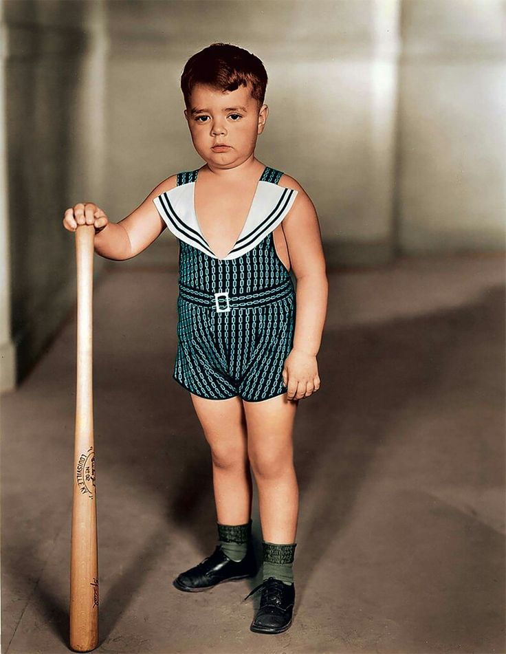 """George McFarland as Spanky in THE LITTLE RASCALS, originally know as """"Our Gang.""""  Image dated 1933."""