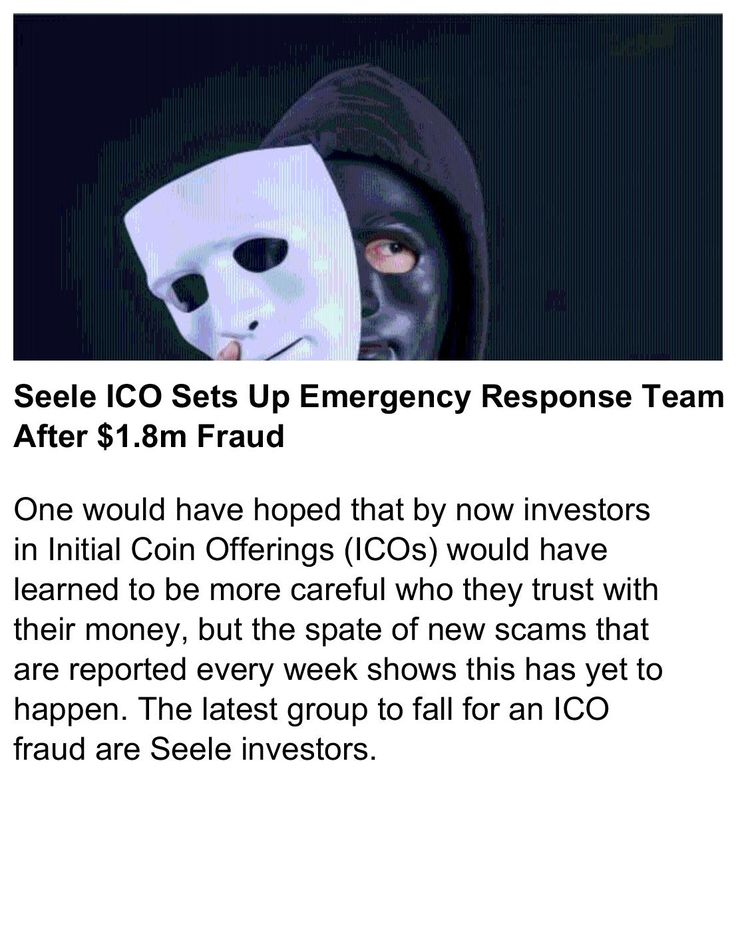 Seele ICO Sets Up Emergency Response Team After $1.8m Fraud    #Seele #Cryptocurrency #Bitcoin   https://news.bitcoin.com/seele-ico-sets-emergency-response-team-1-8m-fraud/