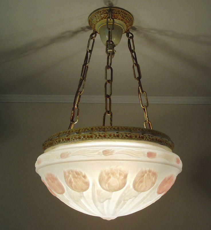 Vintage Victorian Ceiling Light Fixture Chandelier Parlor Kitchen Foyer Ca 1920 150