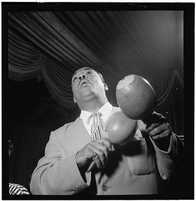 Portrait of Machito, Glen Island Casino, New York, N.Y., ca. July 1947 by William P. Gottlieb. Photograph. Gottlieb, William P. William P. Gottlieb Collection. Library of Congress Photographs and Prints Division.