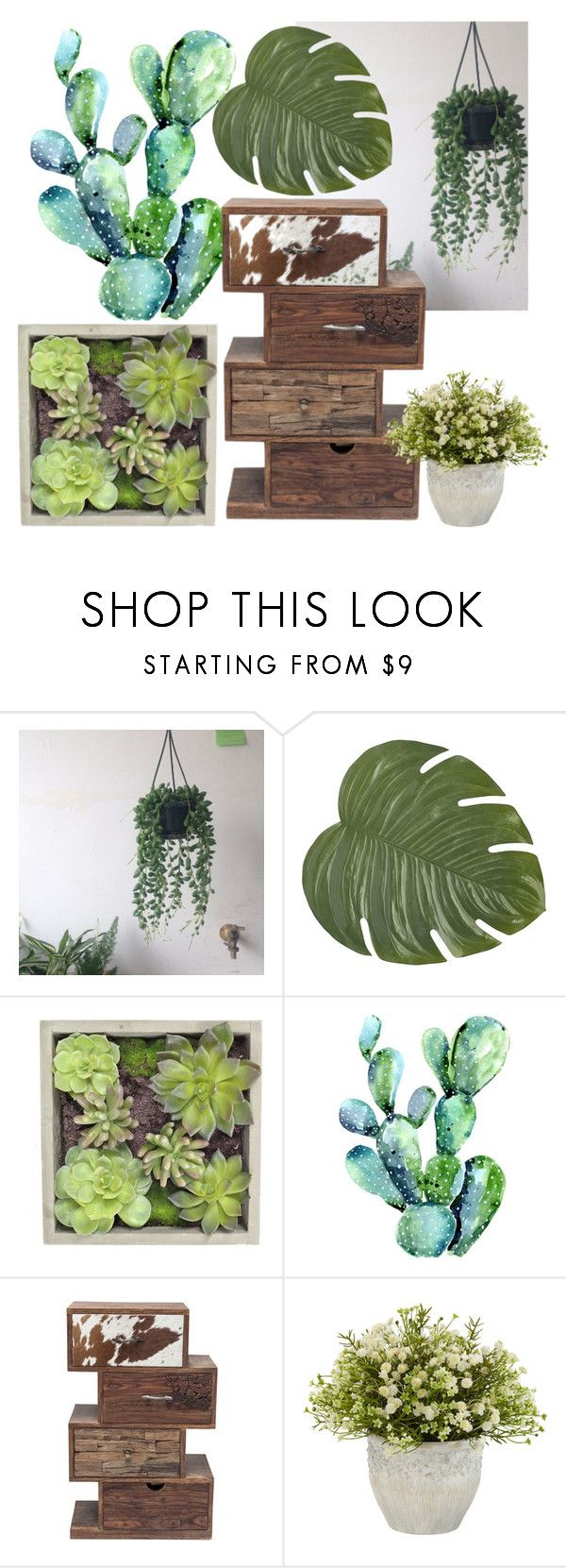 """""""plants #2"""" by herminedanger ❤ liked on Polyvore featuring interior, interiors, interior design, home, home decor, interior decorating, Pier 1 Imports, Gold Eagle, plants and planters"""