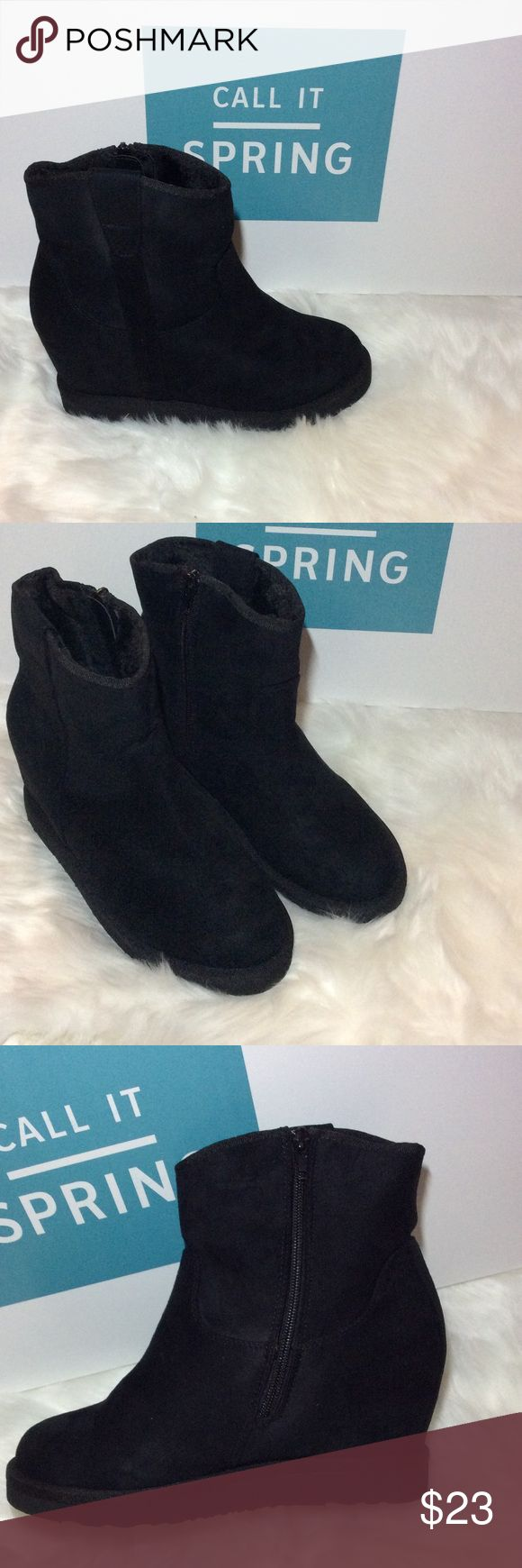 CALL IT SPRING GEORGENIA BOOTS New CALL IT SPRING  GEORGENIA black high top boots NWB Call It Spring Shoes Ankle Boots & Booties