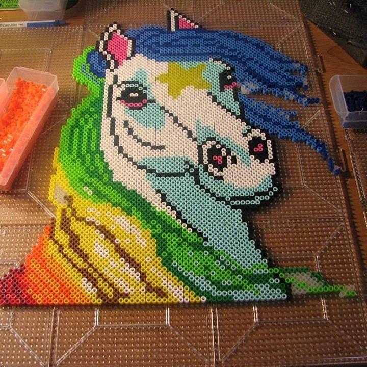 Rainbow Brite - Starlite perler beads by ndbigdi - Pattern: https://de.pinterest.com/pin/374291419013001001/