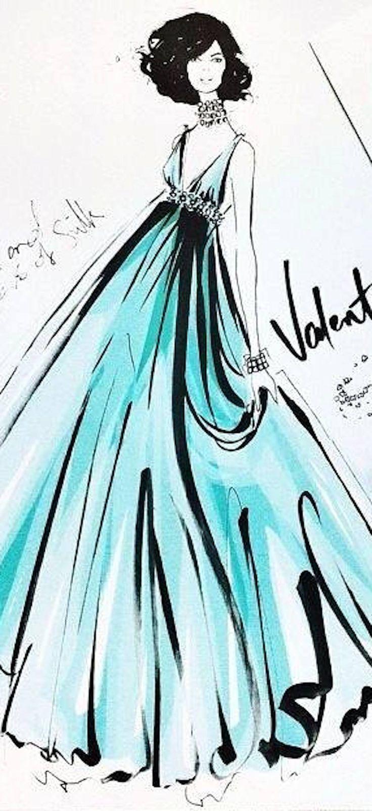 Megan Hess -Valentino Fashion Illustration   House of Beccaria#