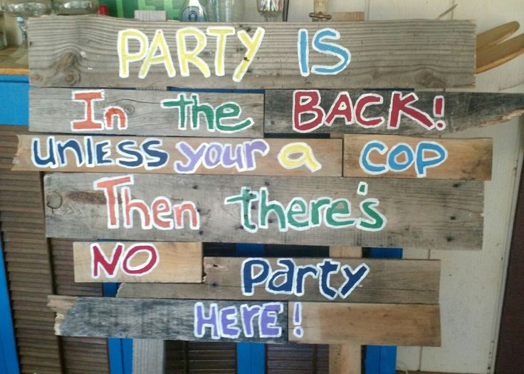 Hillbilly Party Sign