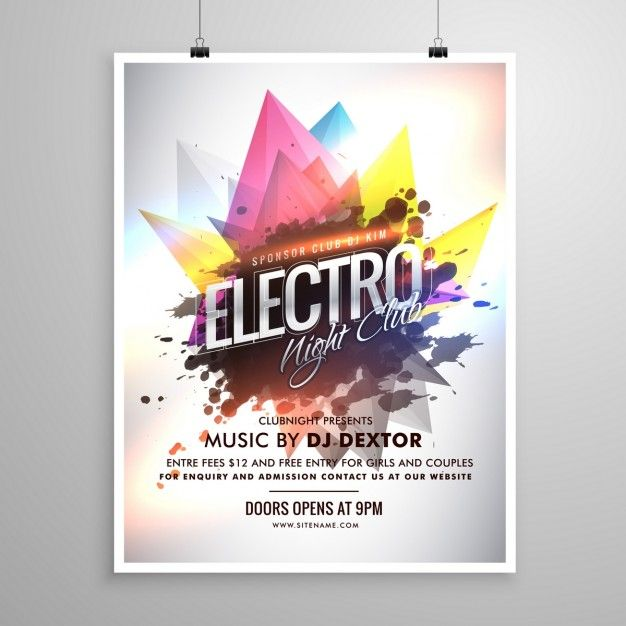 Cartel para fiesta de discoteca Vector Gratis