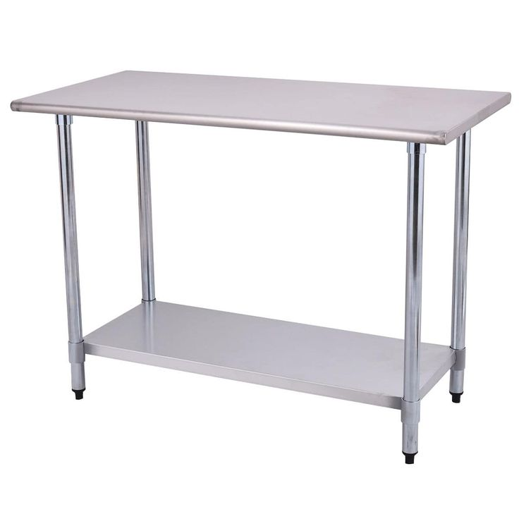 Costway 24'' x 48'' Stainless Steel (Silver) Work Prep Table Commercial Kitchen Restaurant
