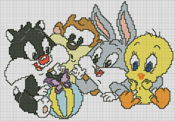328 Best Cross Stitch Looney Tunes Images On Pinterest