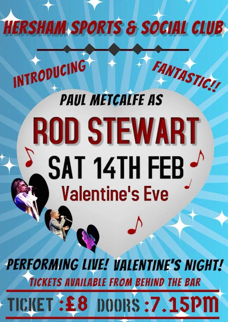 Tribute Night!! Hersham, Social club, Rod stewart