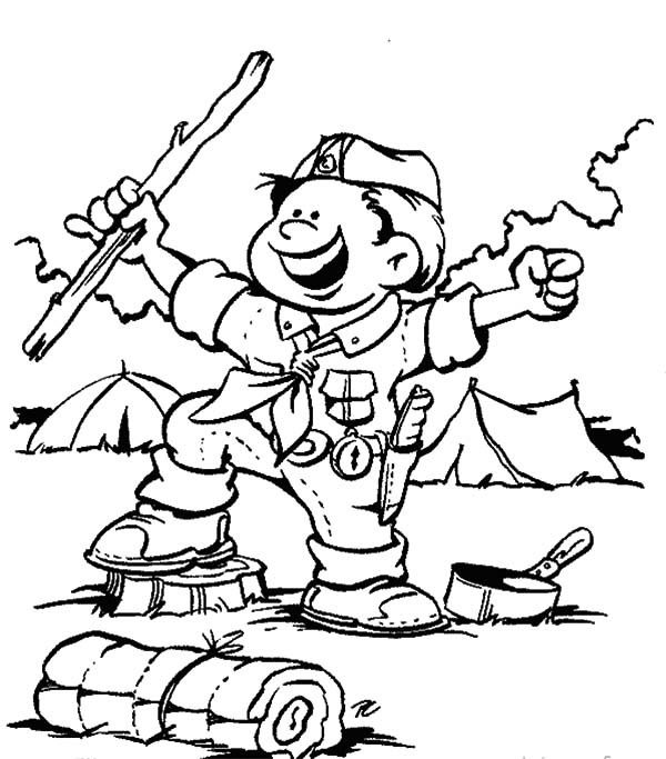Boy scouts boy scouts ready for adventure coloring for Wolf cub coloring pages