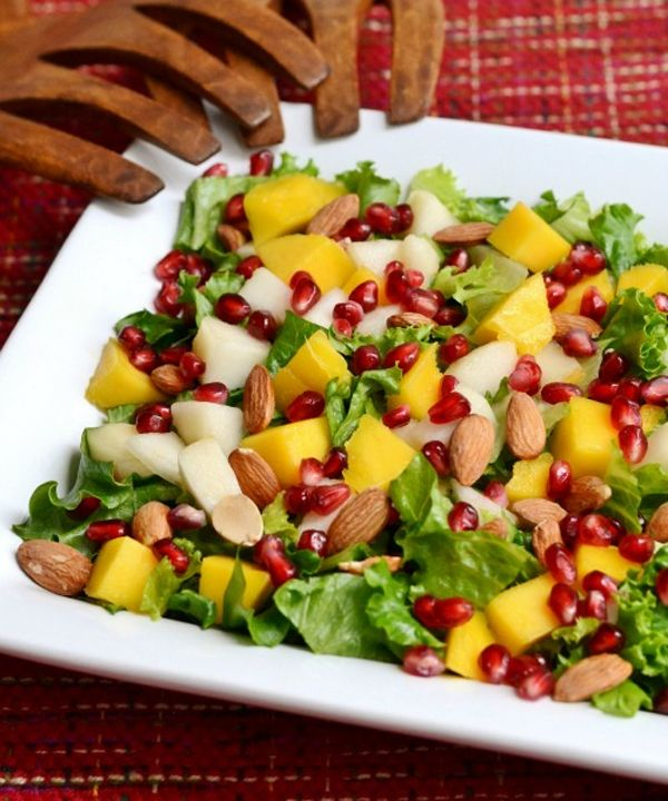 Salade van mango en peer ♥ Foodness - good food, top products, great health