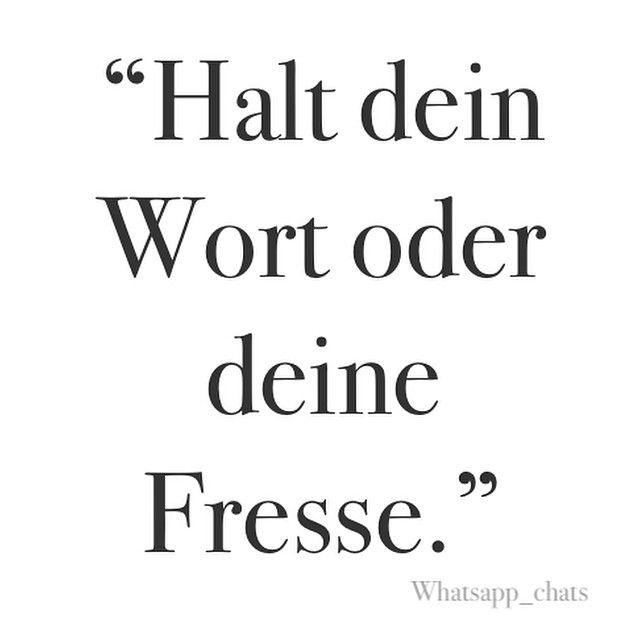 #wort #halten #fresse