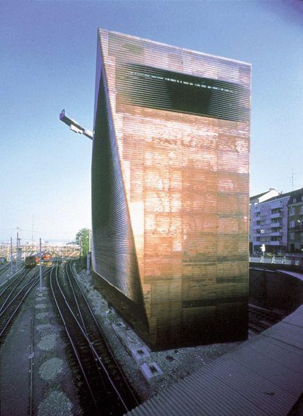 Jacques Herzog and Pierre de Meuron 2001 Laureates, Central Signal Tower SBB, Basel, Switzerland, 1997