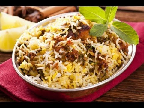Hyderabadi Chicken Biryani cook rice half way until rice starts to dance and it breaks into pieces between your fingers. When all assembled cook 5 min high heat, 15 min med, 10 min low or med with tava underneath