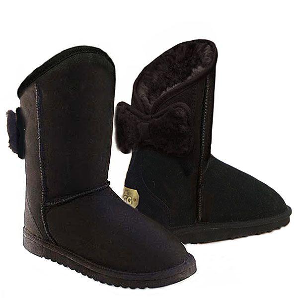 http://www.uggbootsmadeinaustralia.com.au/Shearling-Bow-Melba-Ugg-Boots-Black.aspx