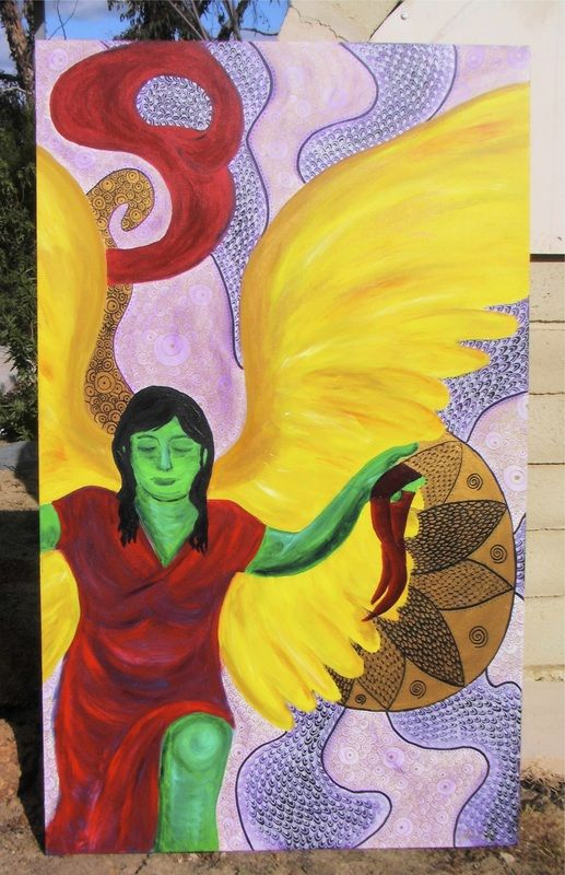Mesenger - An otherworldly messenger taking flight. The freedom of wings. To request your own custom artwork check out http://www.artuition.net/art-work.html