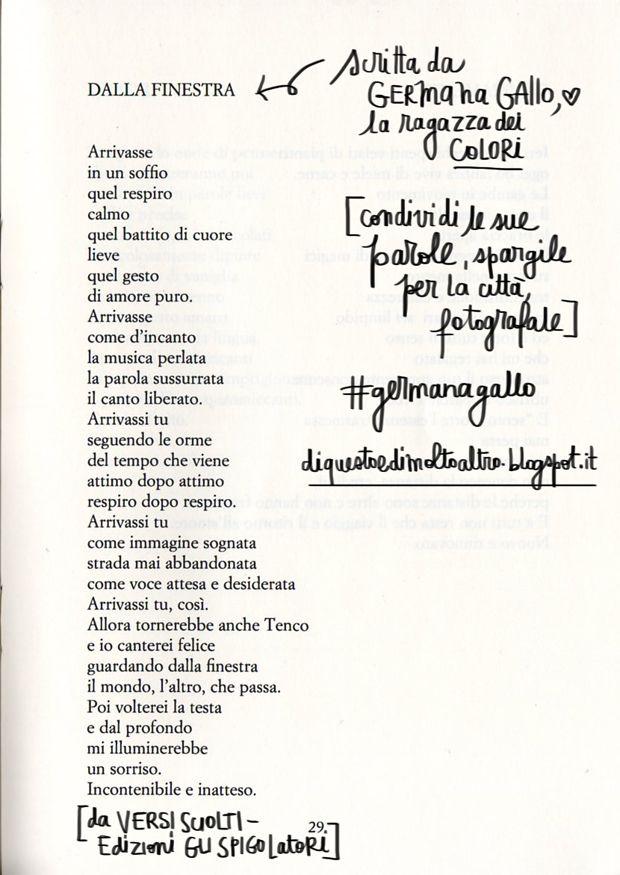 Germana Gallo - Dalla Finestra | Zelda was a writer