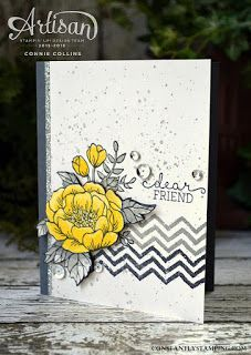 handmade greeting card ... Birtdhay Blooms .. white,and grays ... great card! ...Stampin' Up!