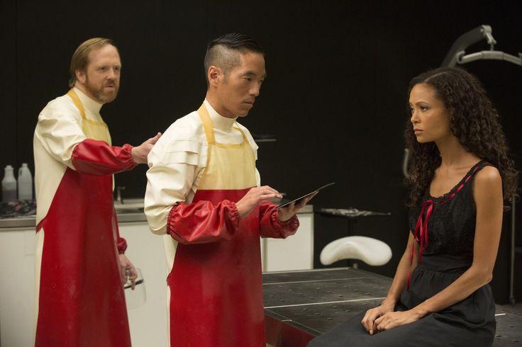 Thandie Newton, Leonardo Nam, and Ptolemy Slocum in Westworld - IMDb TV - IMDb