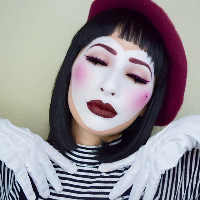 Best 25+ Mime Makeup Ideas On Pinterest | Clown Makeup Circus Makeup And Mime Costume