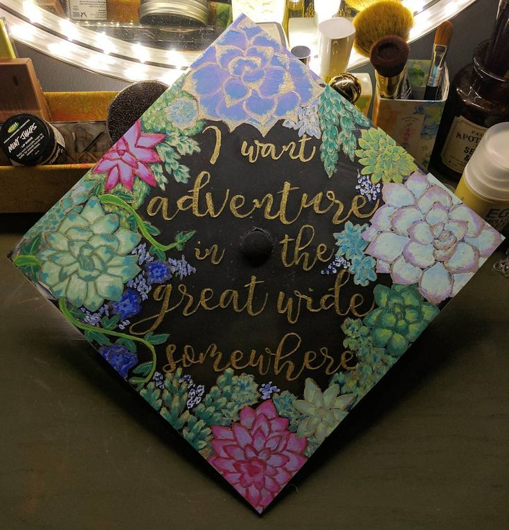 Beauty and the Beast Disney Inspired Graduation Cap Decoration Idea | MyVCUcap | Virginia Commonwealth University