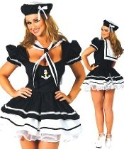 Forever Young Lady Sailor Fancy Dress Costume Sea Sailor Costume