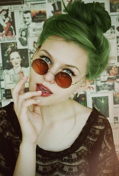 1.  -potential new hair color-  why not green, it should be normal like blonde hair in our century:
