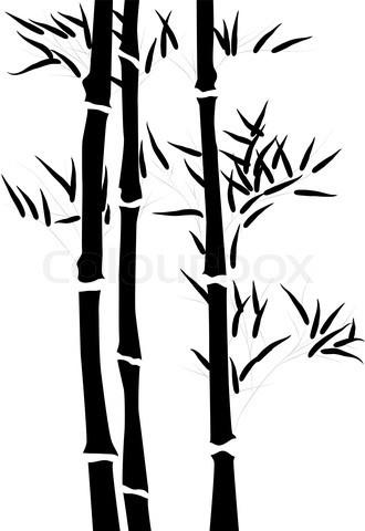 Vector of 'vector, bamboo, stencil'