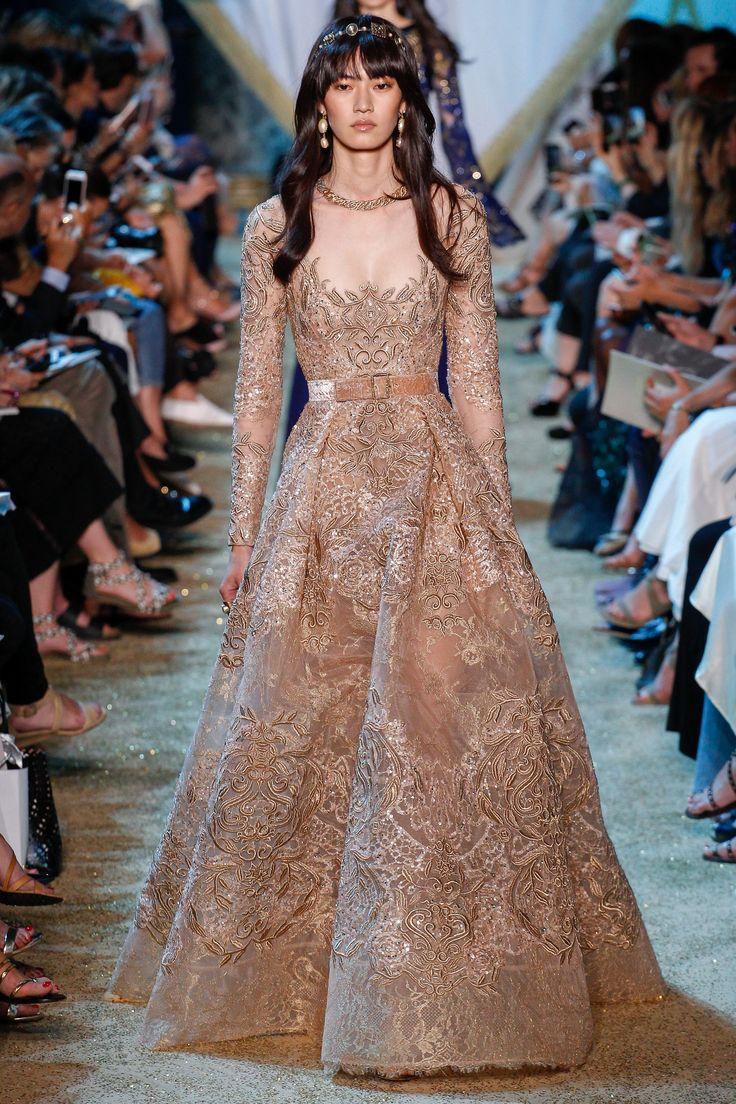 Elie Saab Fall 2017 Couture Fashion Show - Miki Ehara