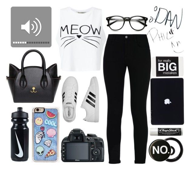 """""""no."""" by imperfect-person ❤ liked on Polyvore featuring Miss Selfridge, STELLA McCARTNEY, adidas, Zero Gravity, NIKE and Chapstick"""