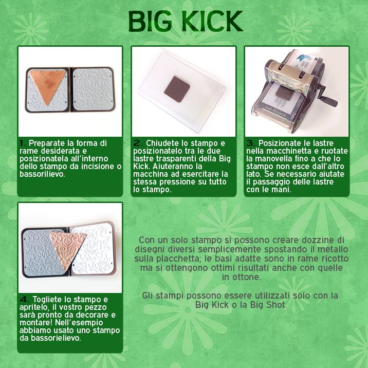 How to use Big Kick machine to emboss copper. #fantasycraft