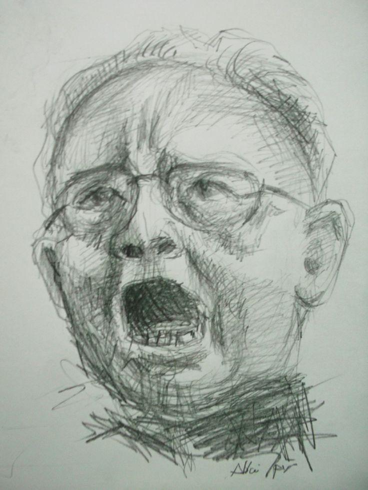 Art Quick Sketch Face Pencil on Paper by Sittichai Pijitam(Cycnas)