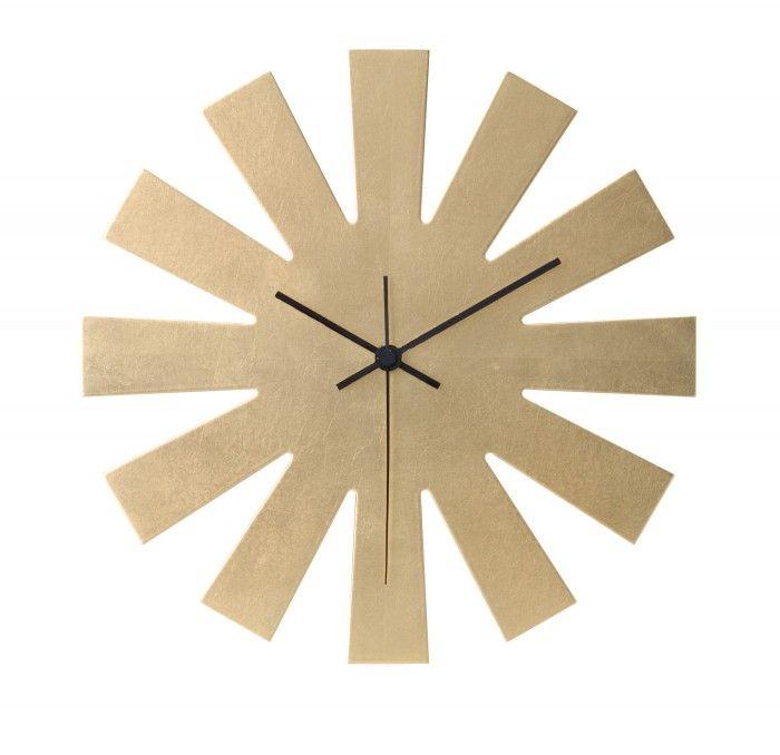 Sun-shaped Wall Clock Authentic Kanazawa-haku gold