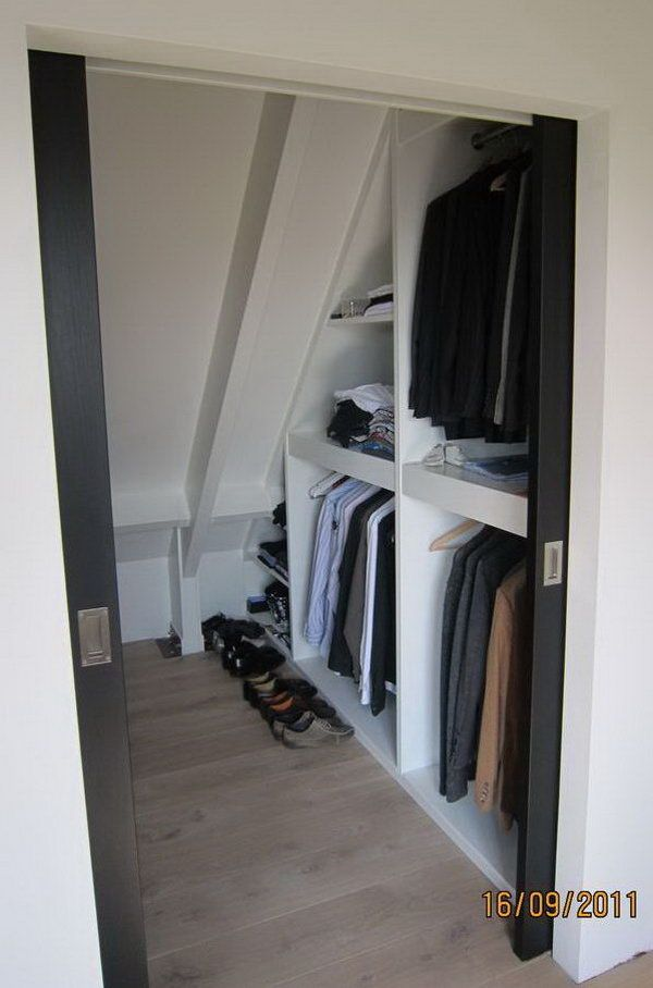 Lovely Closet Storage Under Sloping Roof. If You Are Converting Your Attic Into A  Living Space