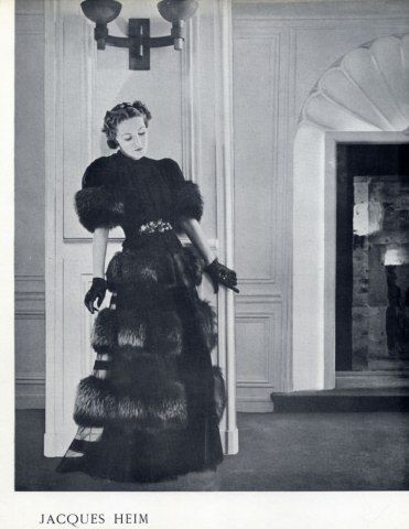 Jacques Heim 1937 Fashion Photography, Evening Gown