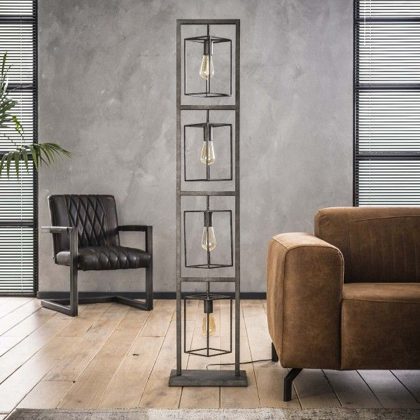 Stehlampe Kube Deco Maison Recup Lampadaires Industriels Sols Industriels