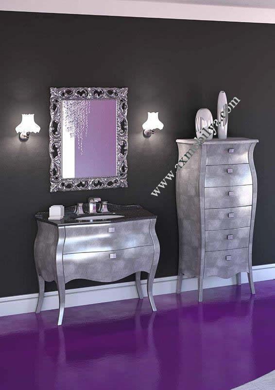Gümüş Renkli Banyo Mobilyaları AX10914.. Gümüş Renkli Banyo Mobilyaları Hakkında Bilgiler..