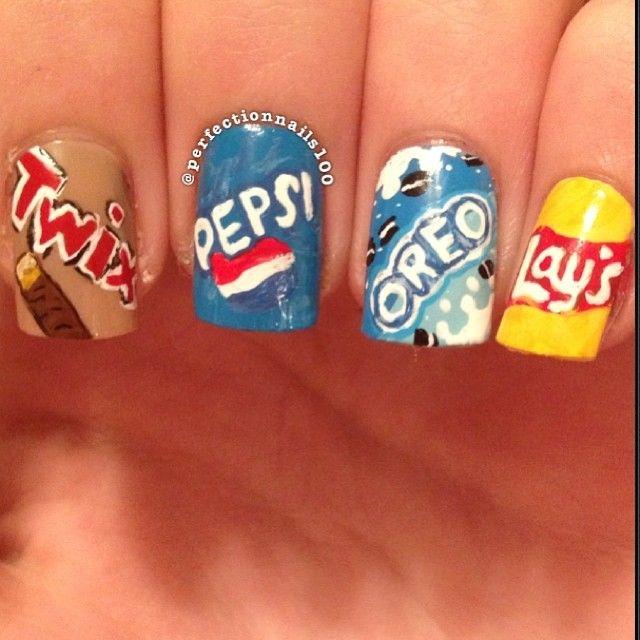 Twix/Pepsi/Oreos/Lay's Nails