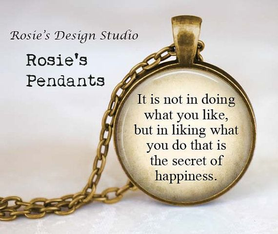 Peter Pan Quote Necklace  Inspirational  by RosiesPendants on Etsy