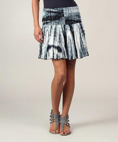 Love this Black Tie-Dye Ruffle Skirt on #zulily! #zulilyfinds