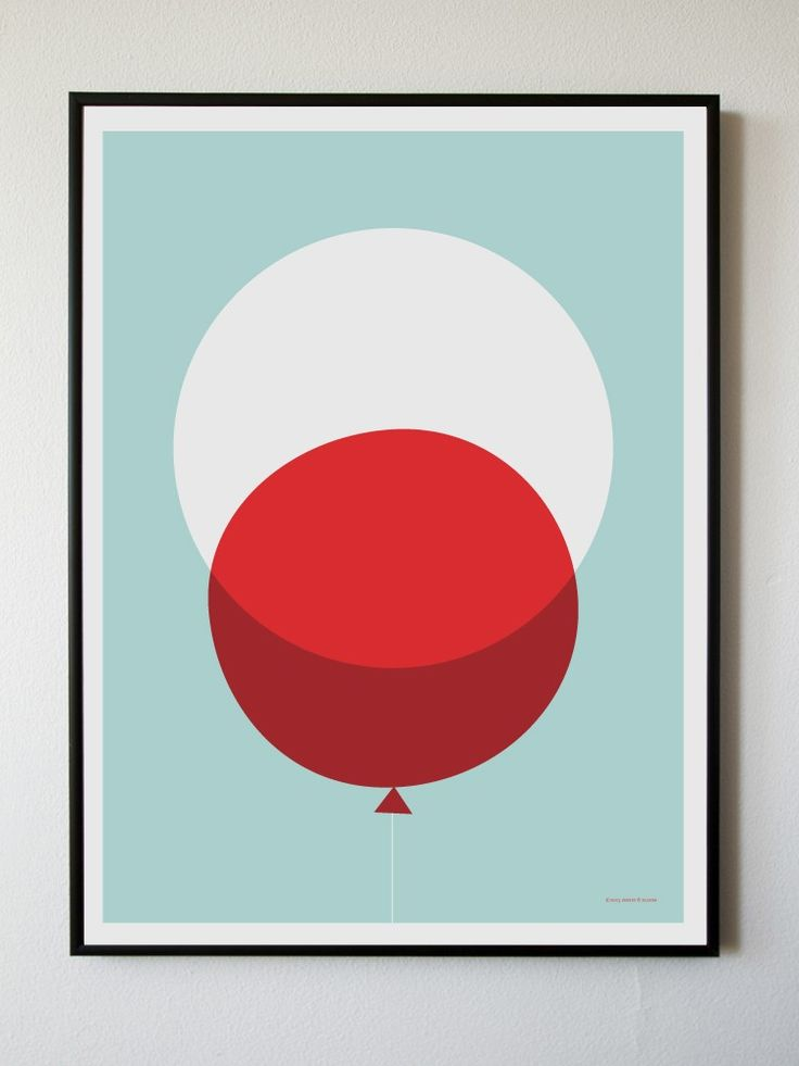 BRIKA.com | Big Red Balloon Print | $34