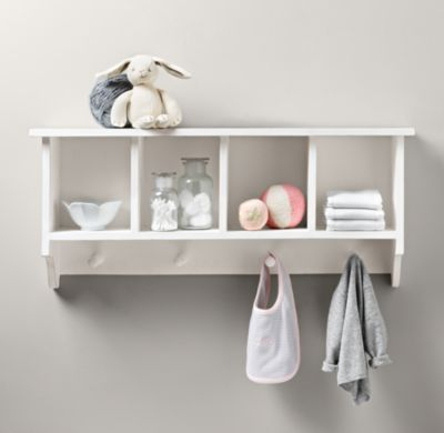 Weathered Wooden Wall Organizer | Wall Storage & Shelving | Restoration Hardware Baby & Child